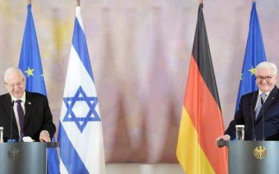 Rivlin auf Europa-Besuch in Berlin, Wien und Paris