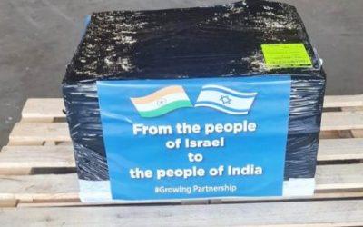 Nothilfe im Kampf gegen Corona: Israel schickt medizinische Geräte nach Indien