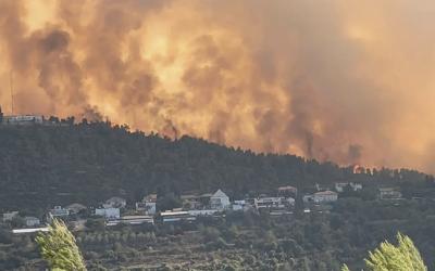 Verheerende Waldbrände bei Jerusalem