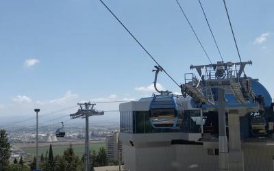 Testphase: Seilbahn von Haifa transportiert erstmals Fahrgäste