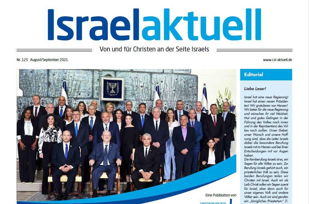 Israelaktuell.de – Ausgabe Nr. 125 – Aug 21/Sep21