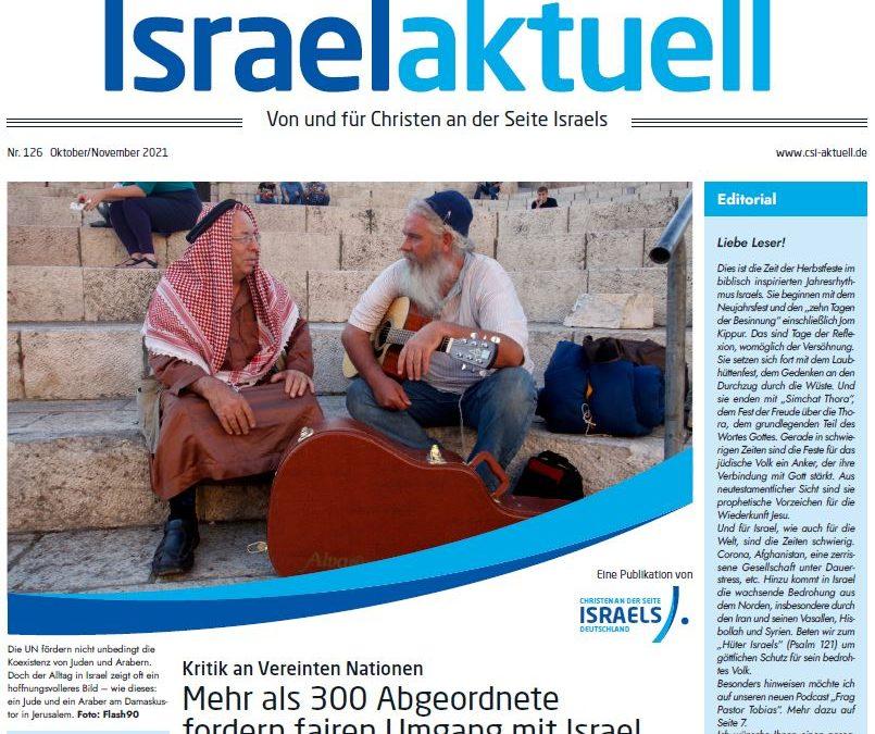 Israelaktuell – Ausgabe Nr. 126 – Okt 21/Nov 21